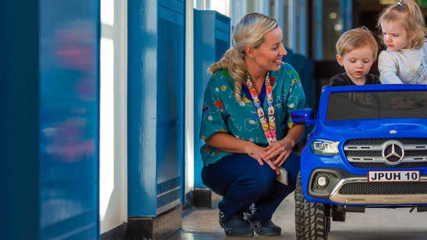 Childrens Ward fundraise for a mercedes jeep