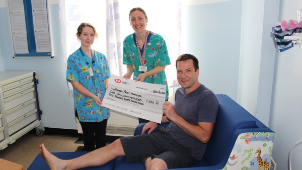 Peace of mind for parents after fundraisers marathon walk